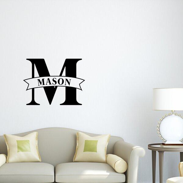 Monogram Wall Decal by Zoomie Kids