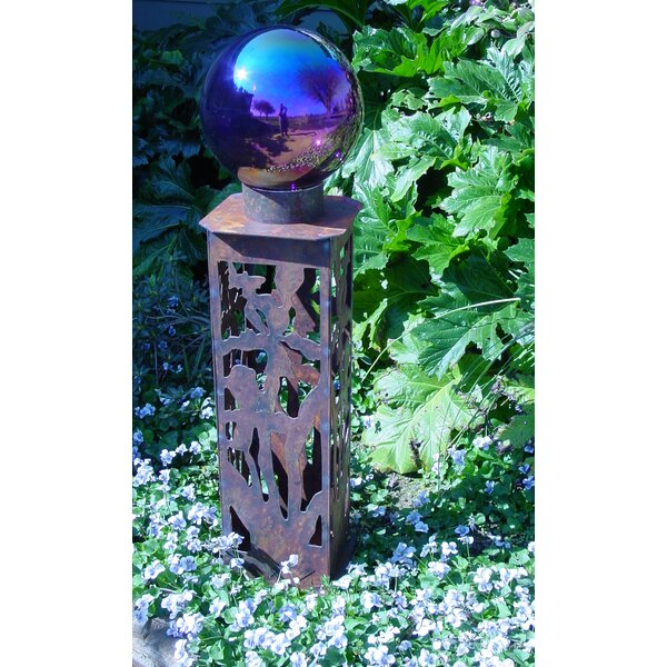 Iris Gazing Ball Pedestal by Z Garden Party