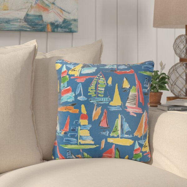 Wallon Square Indoor/Outdoor Throw Pillow (Set of 2) by Longshore Tides