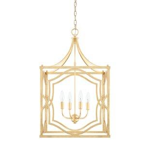 Destrey 4-Light Metal Foyer Lantern Pendant by Willa Arlo Interiors