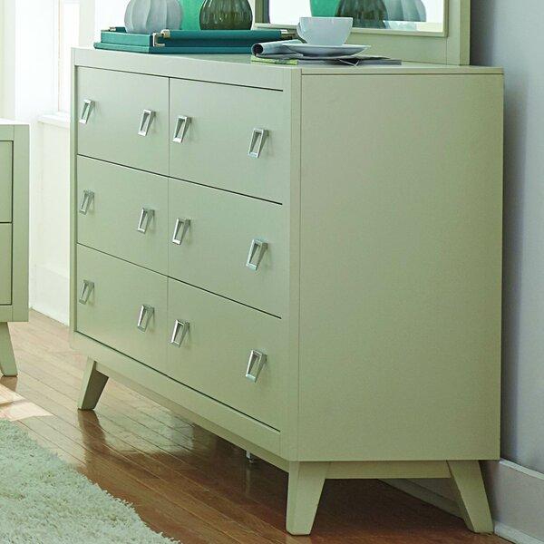Hagerty 6 Drawer Double Dresser by Brayden Studio