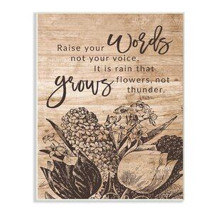 Rain Grows Flowers Rumi Quote' Textual Art by Stupell Industries