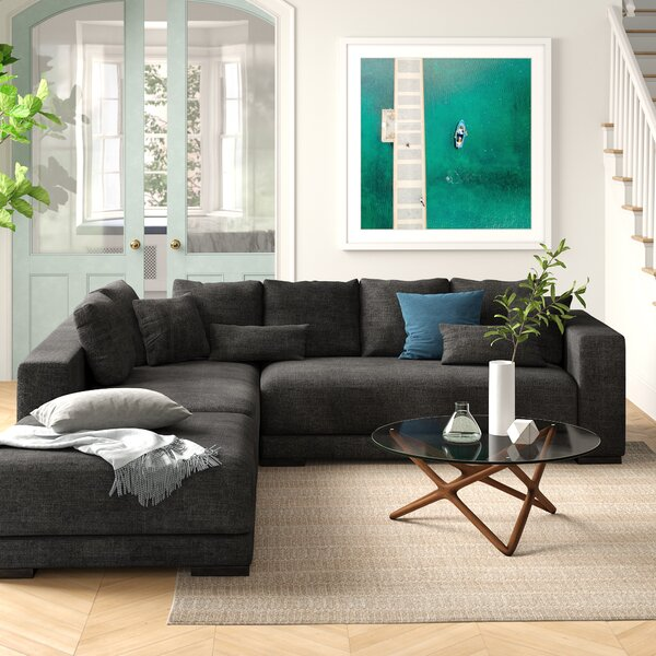 Danielle Left Hand Facing Sectional With Ottoman By Foundstone
