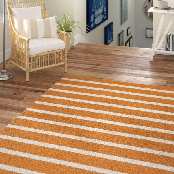 Lyndon Hand-Tufted Orange Indoor/Outdoor Area Rug by Beachcrest Home