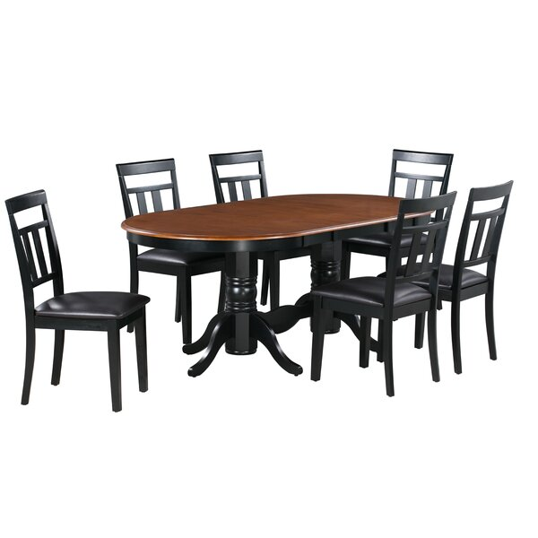 Bellino 7 Piece Extendable Solid Wood Dining Set by August Grove
