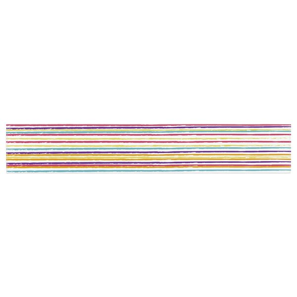 Nika Martinez Summer Stripes Abstract Table Runner by East Urban Home