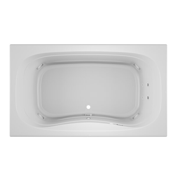 Signa Left-Hand Heater and Chroma 72 L x 42 W Drop In Whirlpool Bathtub by Jacuzzi®