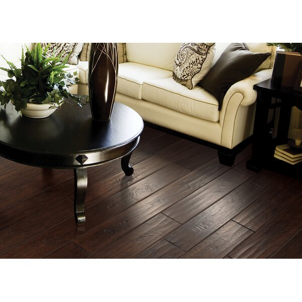 Windworn 5 Engineered Hickory Hardwood Flooring in Espresso by Mohawk Flooring