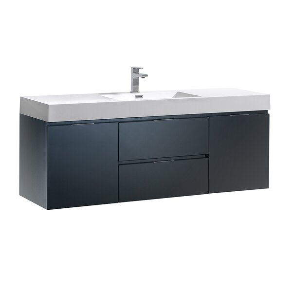 Senza Valencia 60 Wall Mounted Single Bathroom Vanity Set by Fresca