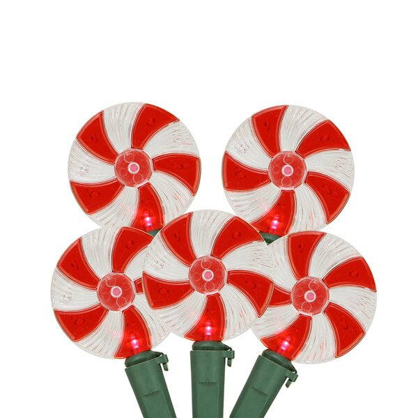 Peppermint Twist Candy LED Christmas Light (Set of 20) by Northlight Seasonal
