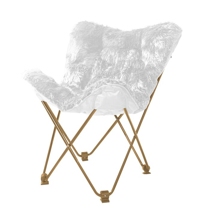 Surprising Gayle Mongolian Faux Fur Butterfly Chair Theyellowbook Wood Chair Design Ideas Theyellowbookinfo