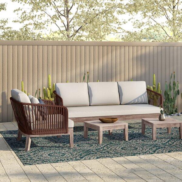 Darrie 4 Piece Sofa Set With Cushions by Mistana