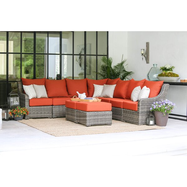 Valentin 5 Piece Sectional Sunbrella Seating Group with Cushions by Laurel Foundry Modern Farmhouse