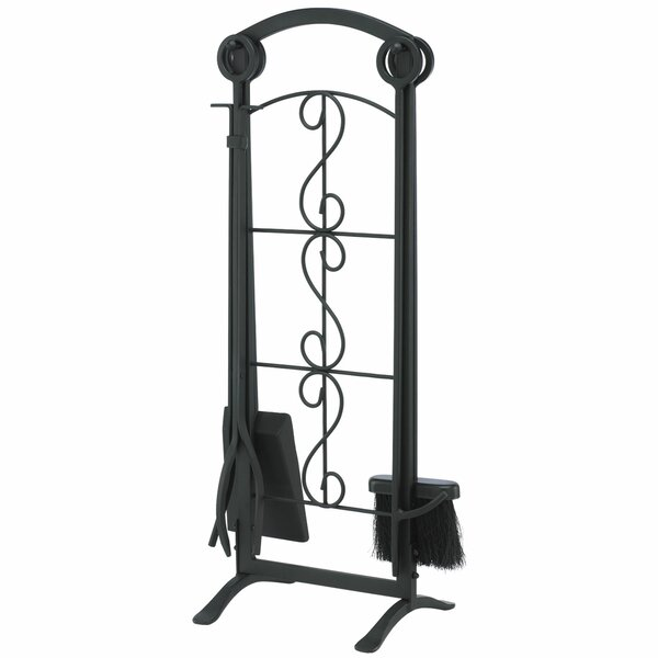 Ashburn 5 Piece Steel Fireplace Tool Set by Pleasant Hearth