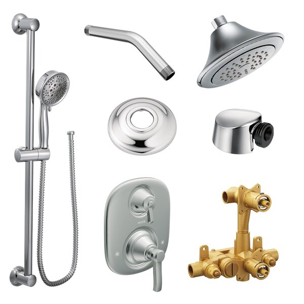 Rothbury Volume Control Complete Shower System with Rough-in Valve by Moen Moen