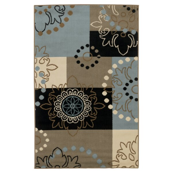 Black/Blue Patchwork Area Rug by Signature Design by Ashley