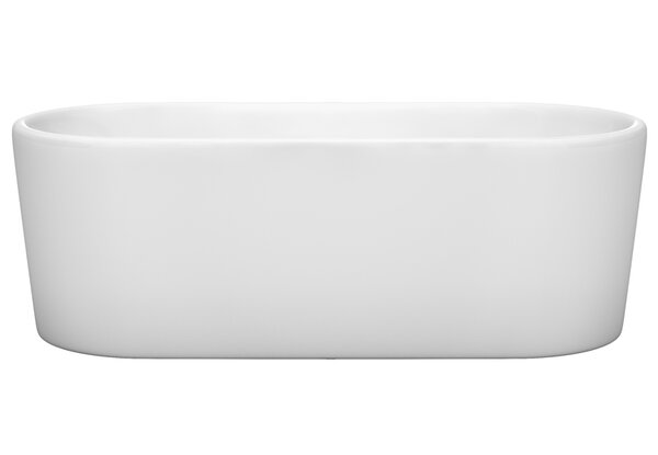 Ursula 67 x 27.5 Freestanding Soaking Bathtub by Wyndham Collection