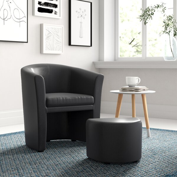 Darvin Barrel Chair And Ottoman By Zipcode Design