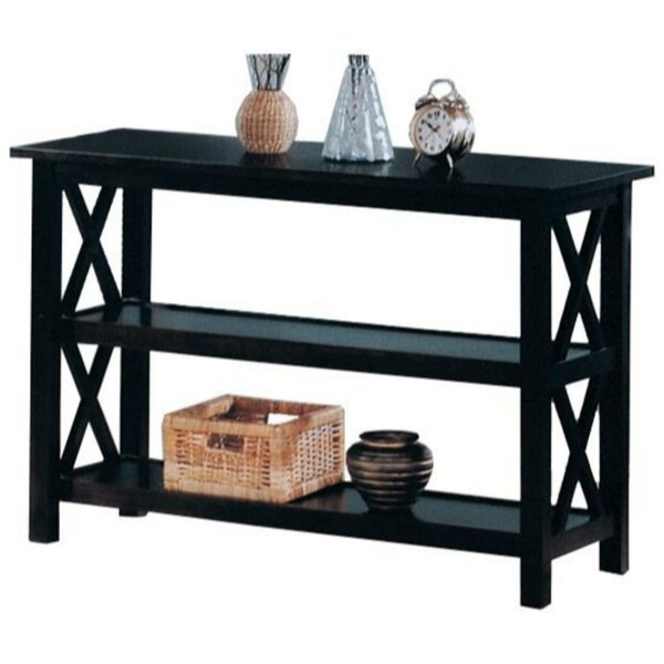 Review Delvale Transitional Wooden Console Table