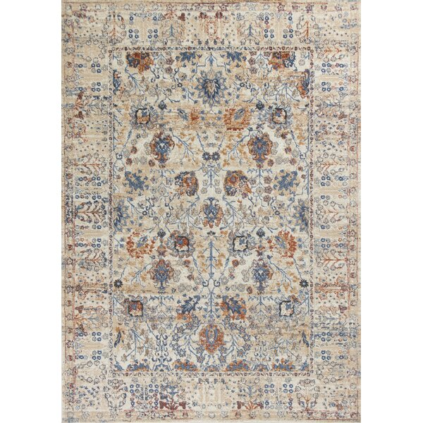 Emmert Beige Area Rug by Astoria Grand