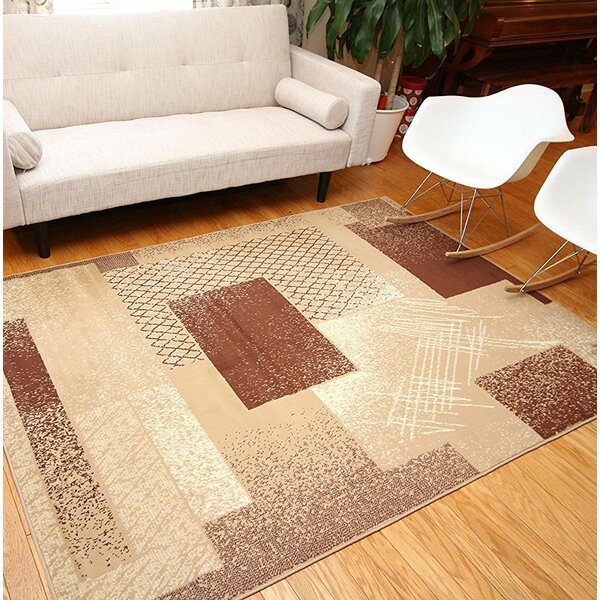 Colette Beige Area Rug by Ebern Designs