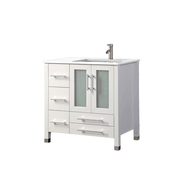 Nadeau Modern Right Side 36 Single Bathroom Vanity Set by Ivy Bronx