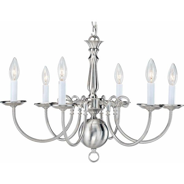 6 - Light Candle Style Classic / Traditional Chandelier By Volume Lighting