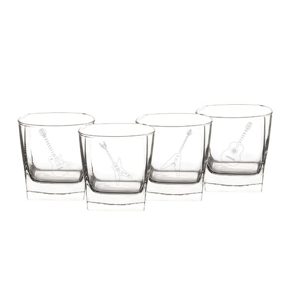 10.5 Oz. Guitar Rocks Glasses (Set of 4) by Cathys Concepts