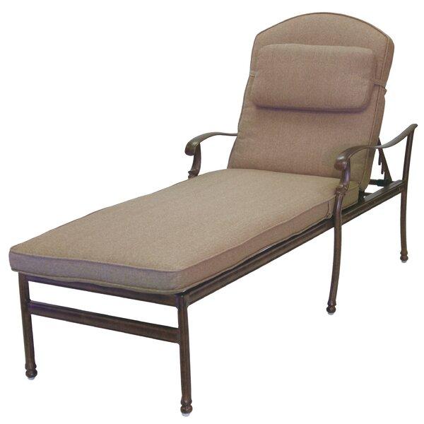 Battista Indoor/Outdoor Sunbrella Chaise Lounge Seat and Back Cushion