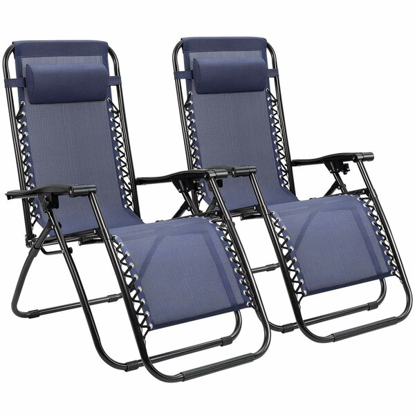 Kidsgrove Adjustable Reclining Zero Gravity Chair (Set Of 2) By Freeport Park