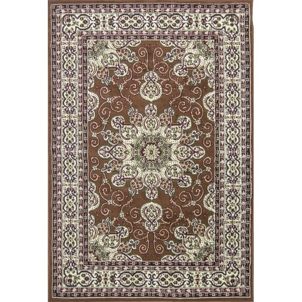 Meredosia Oriental Brown/Beige Area Rug by Three Posts