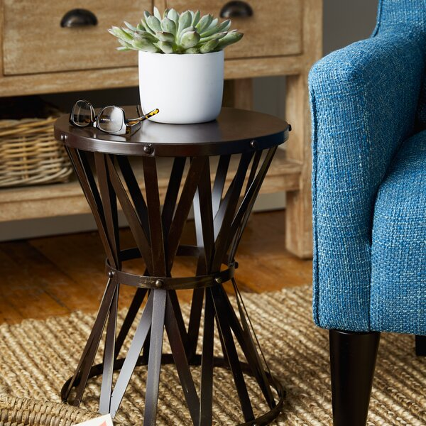 Siefert Rustic Metal Accent Stool by Trent Austin Design
