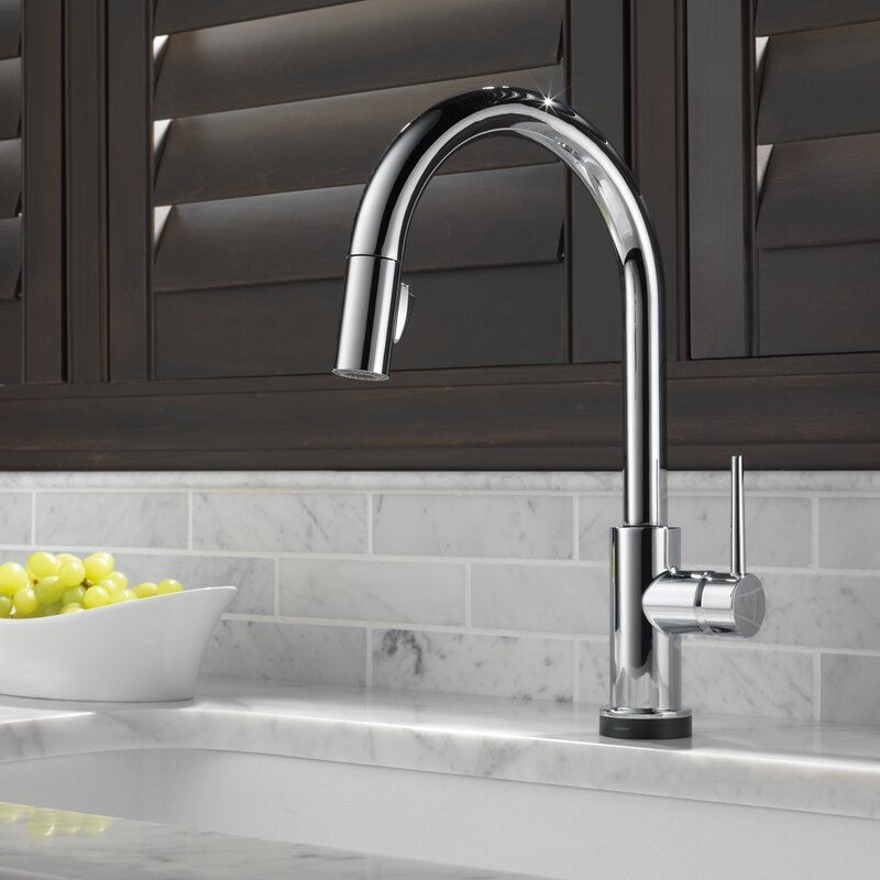 Delta Trinsic Pull Down Touch Single Handle Kitchen Faucet With