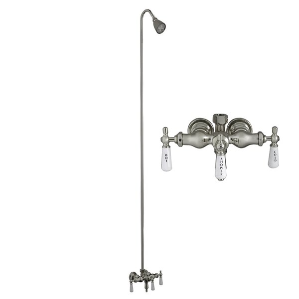 Triple Handle Wall Mounted Clawfoot Tub Faucet Trim with Diverter by Barclay Barclay