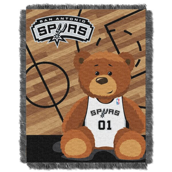 NBA Spurs Half Court Baby Blanket by Northwest Co.