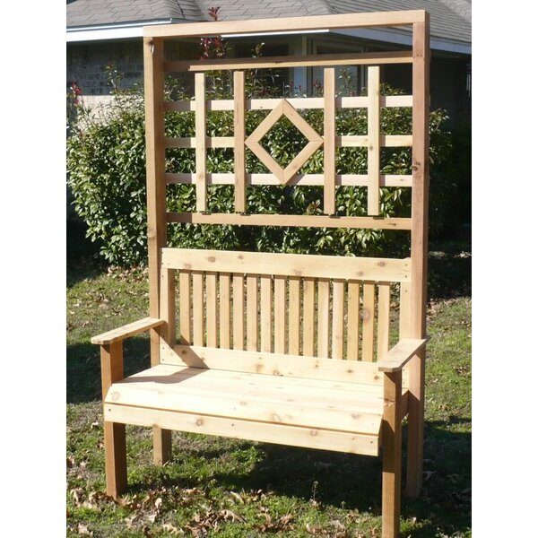 Colby Cedar Trellis Arbor Garden Bench by Millwood Pines Millwood Pines