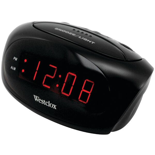 Super Loud LED Electric Alarm Tabletop Clock by Ebern Designs