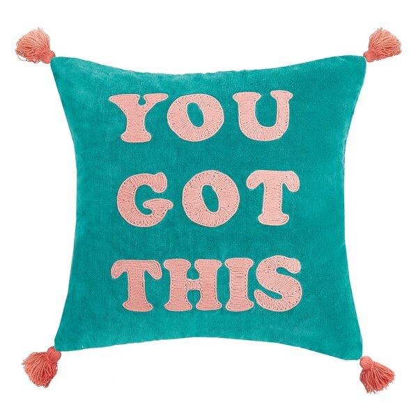 Lunenburg You Got This Velvet Throw Pillow by Zoomie Kids