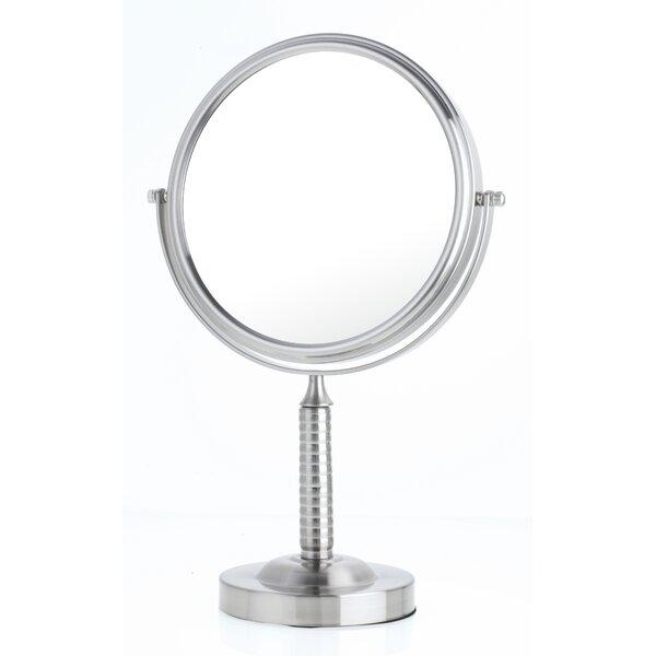 Ribbed Stem Vanity Mirror by Danielle Creations