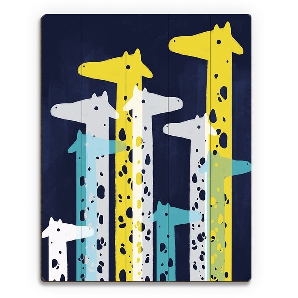 Giraffe Social Main Graphic Art on Plaque by Click Wall Art
