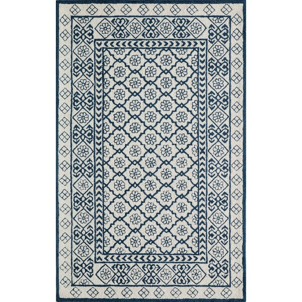 Anaya Hand-Tufted Blue Area Rug by Bungalow Rose