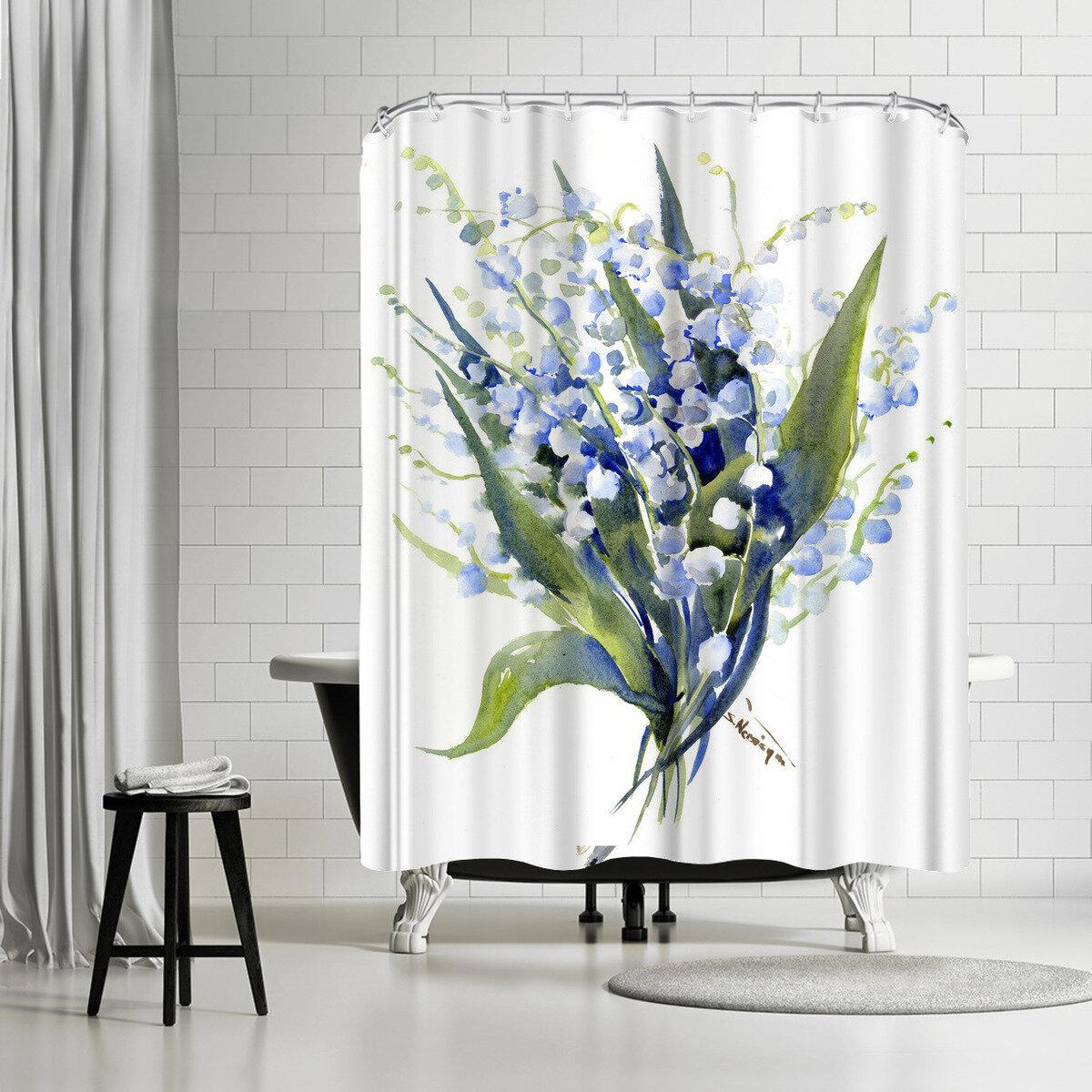 East Urban Home Suren Nersisyan Barn Owl Single Shower Curtain Wayfair