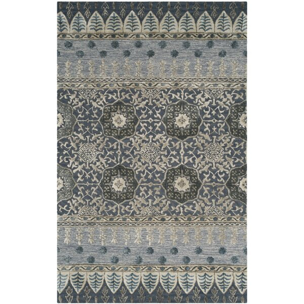 Nahant Hand-Tufted Denim Area Rug by Bungalow Rose