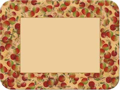 Tuftop Apples Border Cutting Board by McGowan