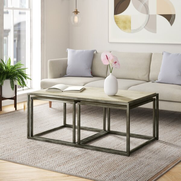 Antonio 3 Piece Nested Coffee Table Set By Foundstone