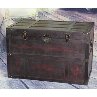 Wooden Steamer Trunk by Vintiquewise