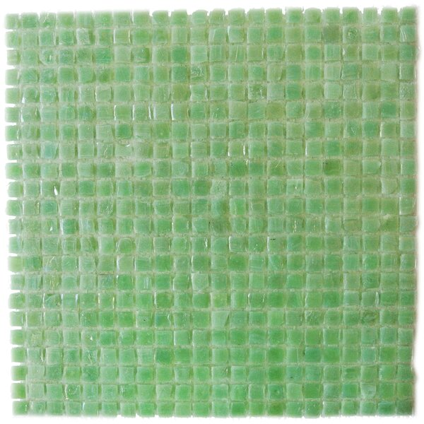 Ecologic 0.38 x 0.38 Glass Mosaic Tile in Glazed Green by Abolos