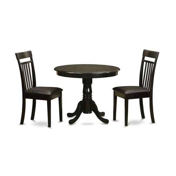 3 Piece Dining Set by East West Furniture East West Furniture