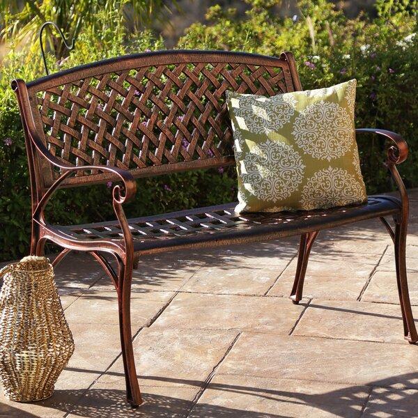 Bogard Cast Aluminum Garden Bench by Fleur De Lis Living