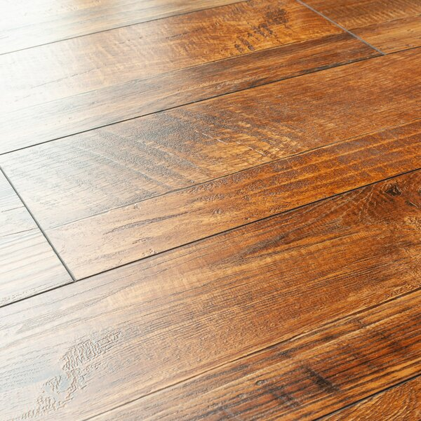 8 x 48 x 12mm Pine Laminate Flooring in Dark Oak by Kronoswiss